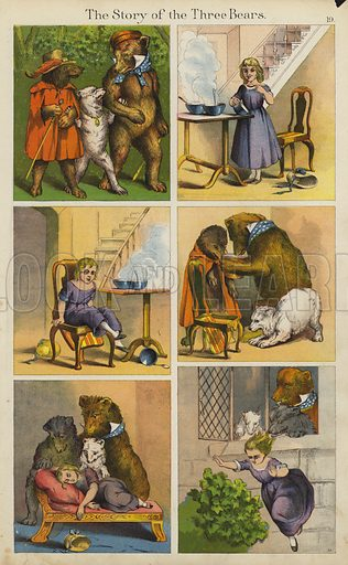 The Story Of The Three Bears. Illustration for The Prince of Nursery Playmates (Sampson Low, c 1885).