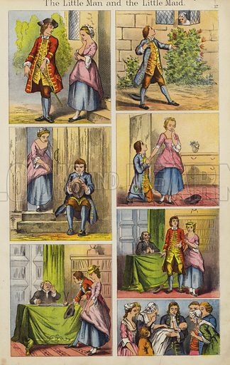 The Little Man And The Little Maid. Illustration for The Prince of Nursery Playmates (Sampson Low, c 1885).