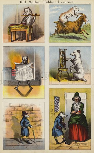 Old Mother Hubbard.  Illustration for The Prince of Nursery Playmates (Sampson Low, c 1885).