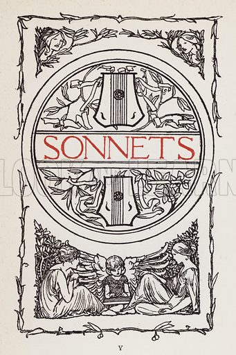 Sonnets. Illustration for Poems by John Keats with illustrations by Robert Anning Bell (George Bell, 1898).