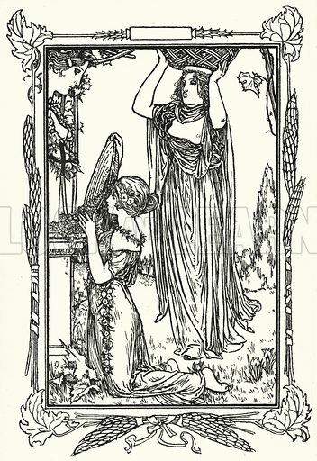 Illustration for Poems by John Keats with illustrations by Robert Anning Bell (George Bell, 1898).