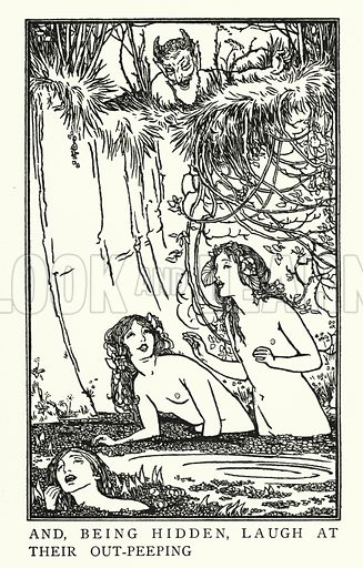 Endymion.  Illustration for Poems by John Keats with illustrations by Robert Anning Bell (George Bell, 1898).