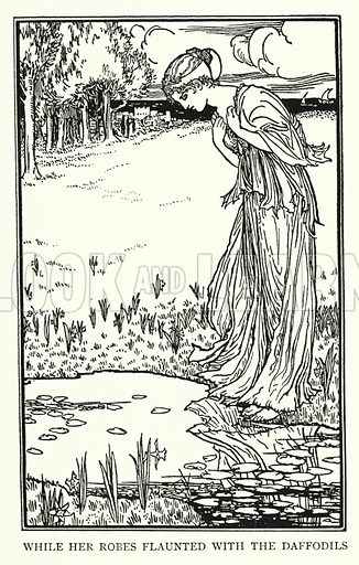 Lamia.  Illustration for Poems by John Keats with illustrations by Robert Anning Bell (George Bell, 1898).