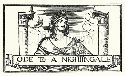 Ode To A Nightingale.  Illustration for Poems by John Keats with illustrations by Robert Anning Bell (George Bell, 1898).