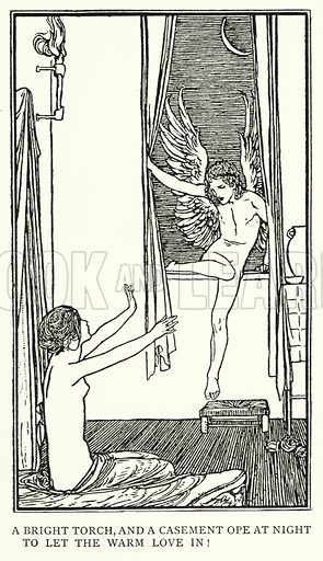 Ode To Psyche.  Illustration for Poems by John Keats with illustrations by Robert Anning Bell (George Bell, 1898).