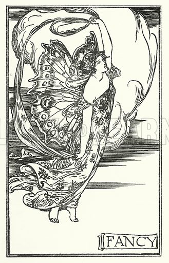 Fancy. Illustration for Poems by John Keats with illustrations by Robert Anning Bell (George Bell, 1898).