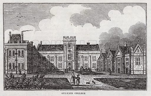 Dulwich College, near London.  Illustration for The Saturday Magazine, 31 August 1833.