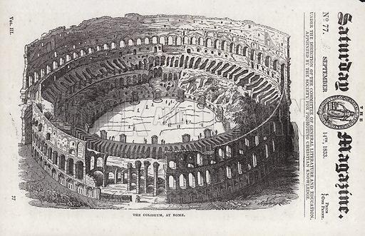 Coliseum, Rome.  Illustration for The Saturday Magazine, 14 September 1833.