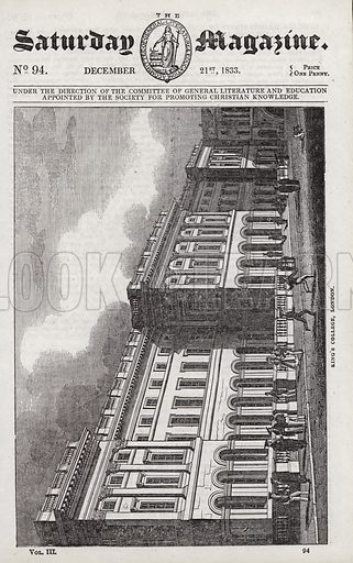 King's College, London.  Illustration for The Saturday Magazine, 21 December 1833.