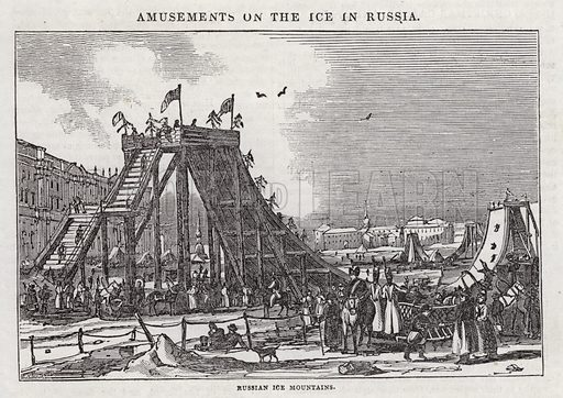 Russian Ice Mountains. Illustration for The Saturday Magazine, 21 December 1833.