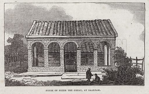 House of Peter The Great, Saardam.  Illustration for The Saturday Magazine, January 1834.