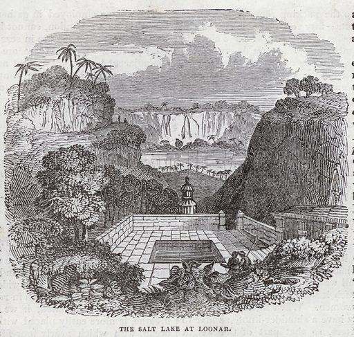 Salt Lake, Loonar, East Indies. Illustration for The Saturday Magazine, 7 June 1834.