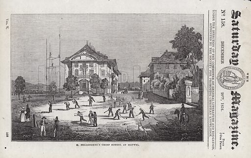 M Fellenberg's Chief School, at Hofwyl.  Illustration for The Saturday Magazine, 20 December 1834.
