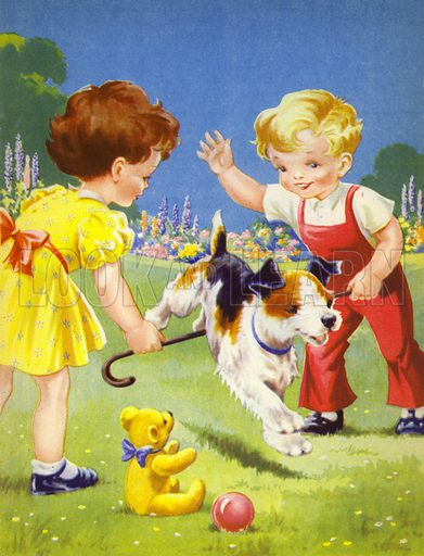 """""""Pip IS a clever puppy!""""  Illustration for Best of All, Picture Story Book (P M Productions, c 1950)."""