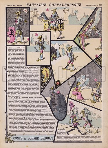 Chivalrous fantasy. Illustration from 20 Images, Dispositions Diverses (Imagerie d'Epinal, Pellerin, Paris, c1890).