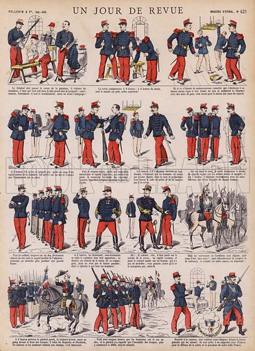 Day of a military parade. Illustration from 20 Images, Dispositions Diverses (Imagerie d'Epinal, Pellerin, Paris, c1890).