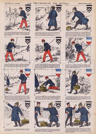 Pitou's revenge. Illustration from 20 Images, Dispositions Diverses (Imagerie d'Epinal, Pellerin, Paris, c1890).