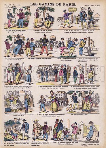 The boys of Paris. Illustration from 20 Images, Dispositions Diverses (Imagerie d'Epinal, Pellerin, Paris, c1890).