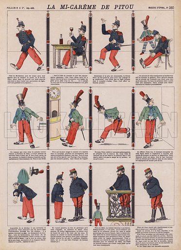 Pitou's Mid-Lent. Illustration from 20 Images, Dispositions Diverses (Imagerie d'Epinal, Pellerin, Paris, c1890).