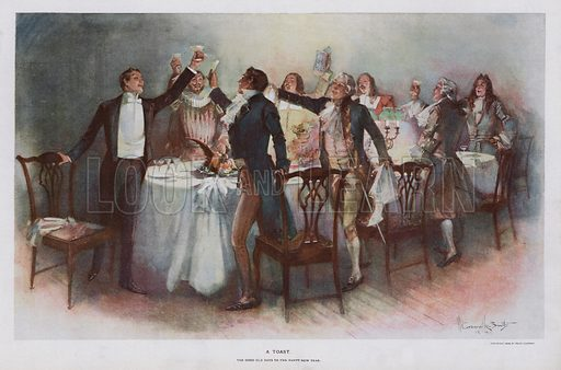A Toast. Illustration from Drawings by W Granville-Smith and Others (ER Herrick, New York, 1898).