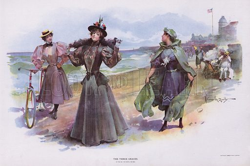 The Three Graces. Illustration from Drawings by W Granville-Smith and Others (E R Herrick, New York, 1898).