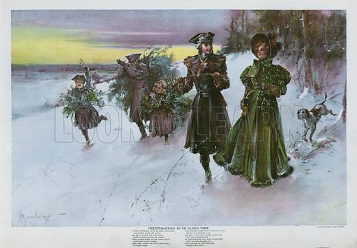 Christmas in ye Olden Time. Illustration from Drawings by W Granville-Smith and Others (E R Herrick, New York, 1898).