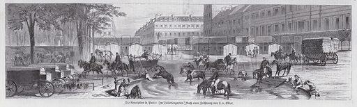 Scene in the Jardin des Tuileries under the Paris Commune, 1871.