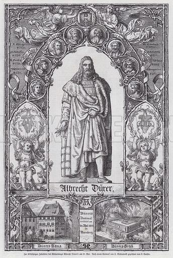 400th anniversary of the birth of German artist Albrecht Durer (1471-1528). Illustration from Illustrierte Zeitung (Leipzig, 27 May 1871).