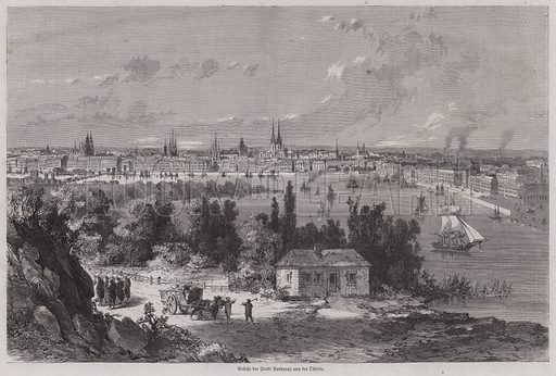 View of Bordeaux, France. Illustration from Illustrierte Zeitung (Leipzig, 4 March 1871).