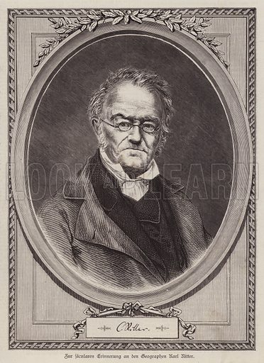 Karl Ritter (1779–1859), German geographer and professor at the University of Berlin. Illustration from Illustrierte Zeitung (Leipzig, 26 July 1879).