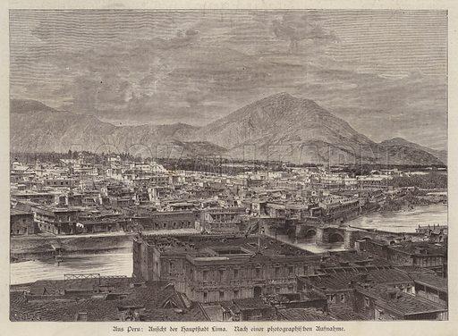 View of Lima, Peru. Illustration from Illustrierte Zeitung (Leipzig, 30 August 1879).
