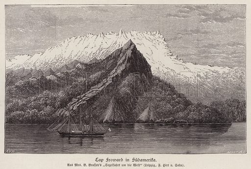 Cape Froward, Chile. Illustration from Illustrierte Zeitung (Leipzig, 13 December 1879).