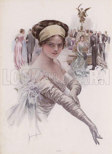 Debutante at a ball