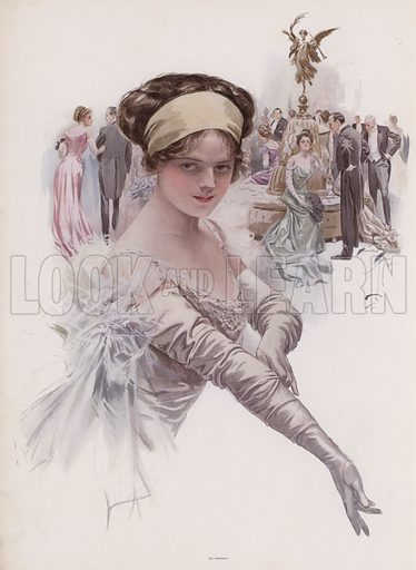 Debutante at a ball. Illustration from Pictures in Color (Charles Scribner's Sons, New York, 1910).