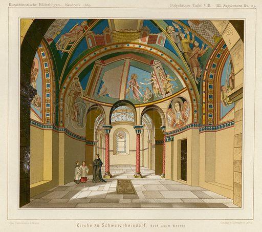 Interior of the Church of Schwarzrheindorf, Bonn, Germany. Illustration from Kunsthistorische Bilderbogen (E A Seemann, Leipzig, 1889).