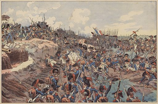 Battle of Jemappes, French Revolutionary Wars, 6 November 1792. Illustration from Imagerie Militaires (Ancien Maison Quantin, Paris, c1892).