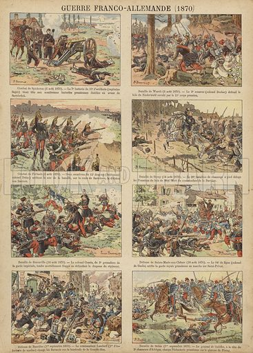 Battles of the Franco-Prussian War, 1870. Illustration from Imagerie Militaires (Ancien Maison Quantin, Paris, c1892).