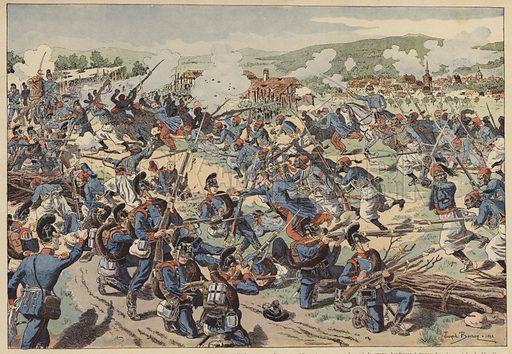 Battle of Wissembourg, Franco-Prussian War, 4 August 1870. Illustration from Imagerie Militaires (Ancien Maison Quantin, Paris, c1892).