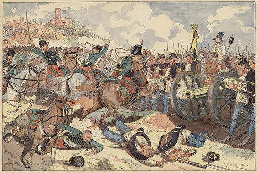 Battle of Solferino, Italy, Second Italian War of Independence, 24 June 1859. Illustration from Imagerie Militaires (Ancien Maison Quantin, Paris, c1892).