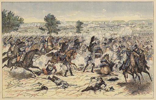 Battle of Gravelotte, Franco-Prussian War, 16 August 1870. Illustration from Imagerie Militaires (Ancien Maison Quantin, Paris, c1892).