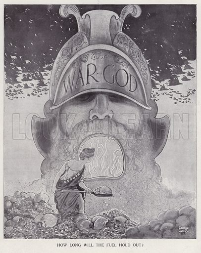Europe stoking the fires of war, World War I. Illustration for Judge's Magazine, 1915.