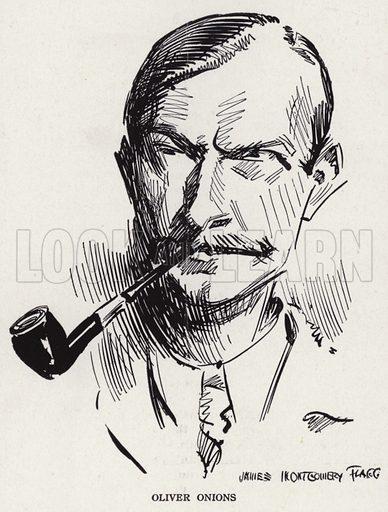 Oliver Onions (1873-1961), British writer. Illustration for Judge's Magazine, 1915.