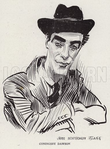 Coningsby Dawson (1883-1959), Anglo-American writer. Illustration for Judge's Magazine, 1915.