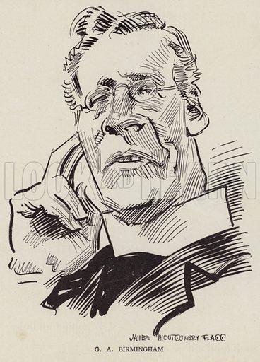 George A Birmingham (1865-1950), Irish clergyman and writer. Illustration for Judge's Magazine, 1915.