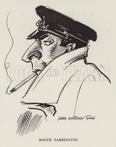 Booth Tarkington (1869–1946), American writer. Illustration for Judge's Magazine, 1915.