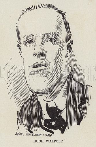 Hugh Walpole (1884-1941), English novelist. Illustration for Judge's Magazine, 1915.