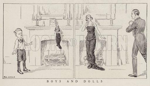 The change in taste as boys grow into men. Illustration for Judge's Magazine, 1915.