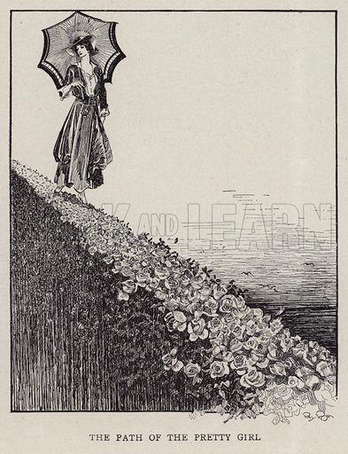 The path of the pretty girl. Illustration for Judge's Magazine, 1915.
