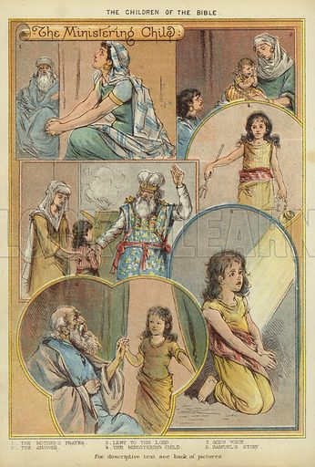 The Children of the Bible: The Ministering Child. Illustration from The Little One's Own Coloured Picture Paper (Dean and Son, c1890).