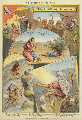 The Children of the Bible: The Child of Promise. Illustration from The Little One's Own Coloured Picture Paper (Dean and Son, c1890).